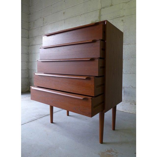 Mid-Century Danish Modern Teak Dresser For Sale - Image 5 of 7