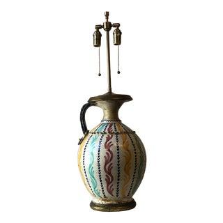 Vintage 1940s Moroccan Vase Lamp For Sale