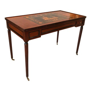 Mahogany Neoclassical Inlaid Game Table For Sale