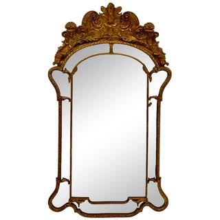 Large Scale Carved Mirror Fair Giltwood Mirror For Sale