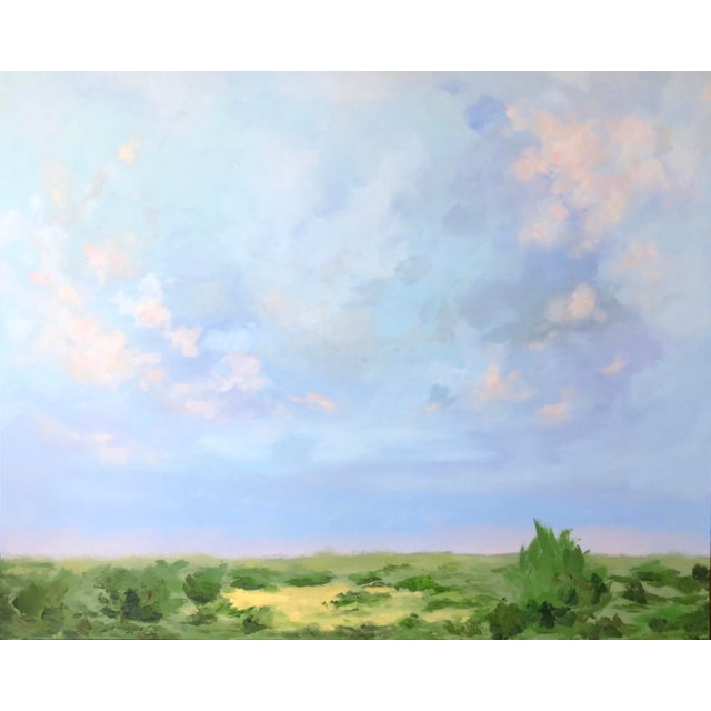 Blue Southern Abstract Landscape by Chelsea Fly For Sale - Image 8 of 8