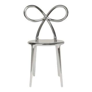 Metallic Silver Ribbon Chair by Nika Zupanc For Sale