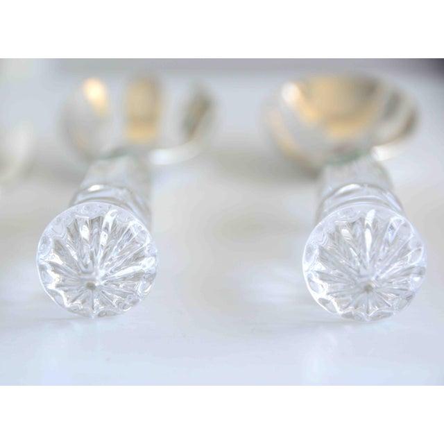 Godinger Crystal and Silver Serving Utensils Shannon Crystal by Godinger - Set of 5 For Sale - Image 4 of 10
