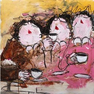 """Pink Party"" Original Artwork by Gerdine Duijsens For Sale"