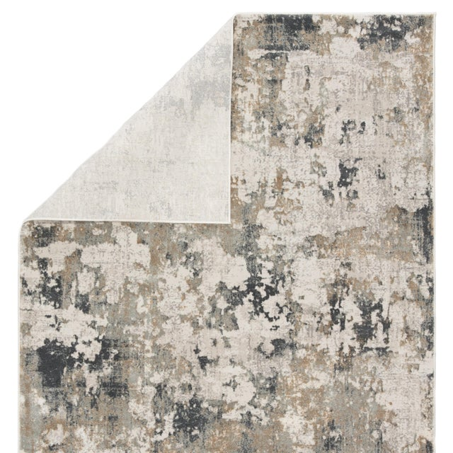 Contemporary Jaipur Living Lynne Abstract White Gray Runner Rug 3'X12' For Sale - Image 3 of 12