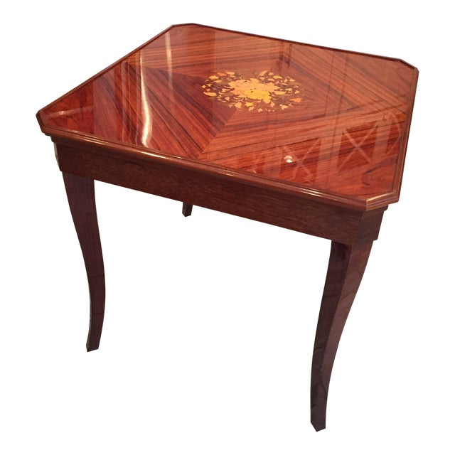 Soro Italy Inlaid Wood Game Table For