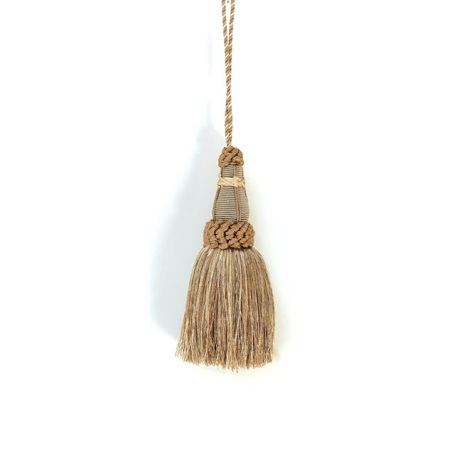 Key Tassel in Khaki and Bronze With Ruche Trim For Sale - Image 10 of 10