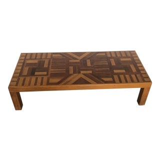 Wood Panel Coffee Table