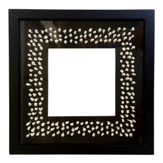 Black Photo Frame With White Knotted Paper Interior For Sale
