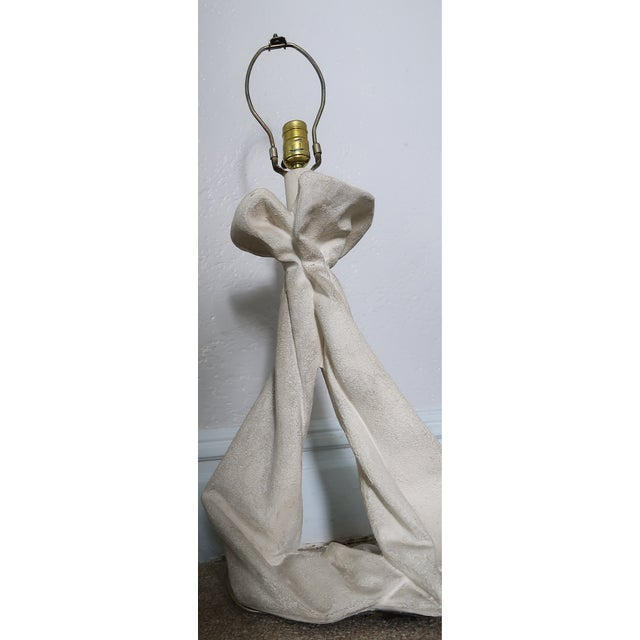 John Dickinson or Serge Roche Style Plaster Drapery Lamps- a Pair For Sale In New York - Image 6 of 11