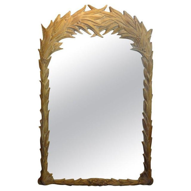 Vintage Dorothy Draper Style Palm Frond Mirror For Sale - Image 10 of 12
