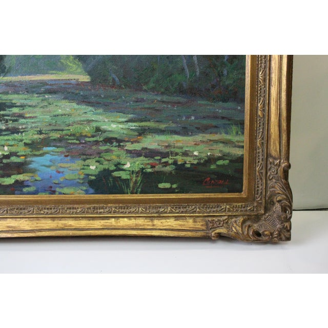 Caddell Spring Marsh Oil Painting For Sale In New York - Image 6 of 8