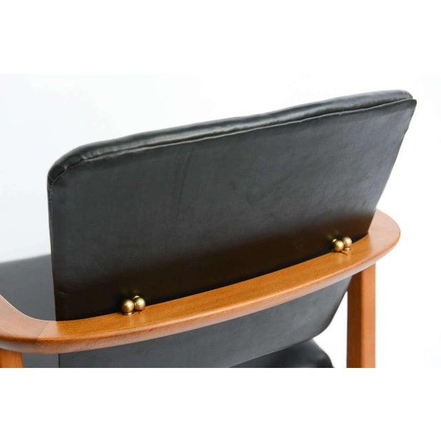Sigvard Bernadotte for France & Daverkosen Danish Modern Teak Lounge Armchair - Image 8 of 11