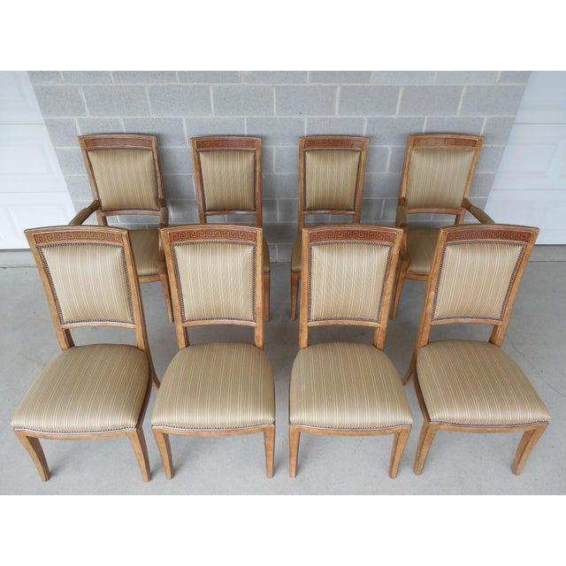 Ferguson Copeland Neoclassical Regency Style Chairs - Set of 8 - Image 2 of 11