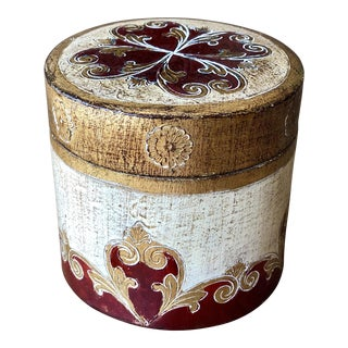 Italian Florentine Box With Lid For Sale