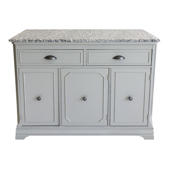Grey Painted Server With Granite Top For Sale