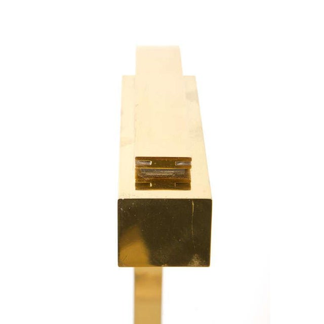 Brass Casella Cantilevered Flat Bar Pivot Reading Lamp For Sale - Image 7 of 8