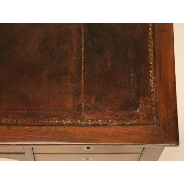 Late 19th Century Antique French Mahogany Desk For Sale - Image 5 of 11