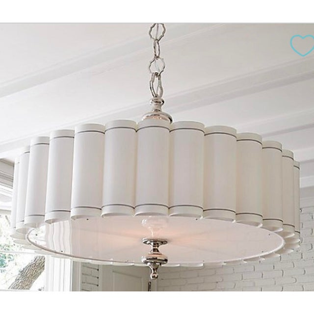 Global Views Global Views Enormous Fluted Pendant Chandelier For Sale - Image 4 of 4