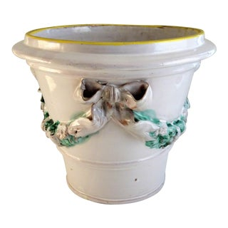 Italian Majolica Flower Pot