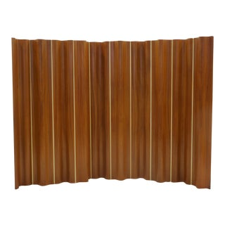 Rare Ten-Panel Eames Folding Screen 'FSW-10' in Teak For Sale