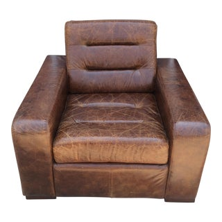 Stately Leather Club Chair