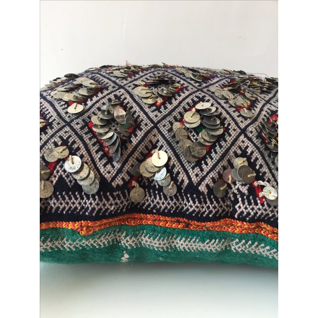 Moroccan Dhurrie Throw Pillow - Image 5 of 6