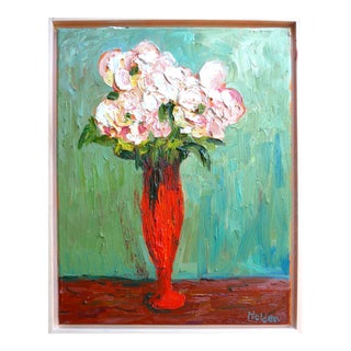 2026 Roses in a Red Vase For Sale