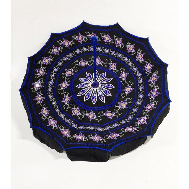 Sun Umbrella Garden Umbrella, Embroidered Cotton - Image 3 of 11