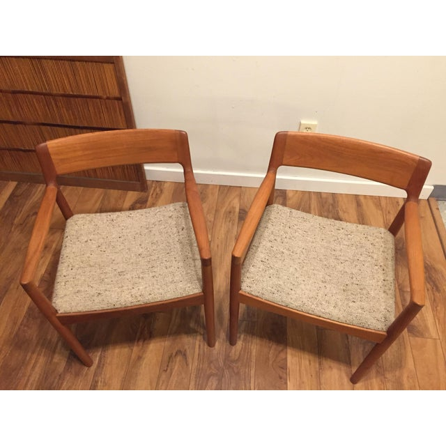 Mid-Century Norgaard Teak Arm Chairs, Made in Denmark, a Pair For Sale - Image 11 of 13