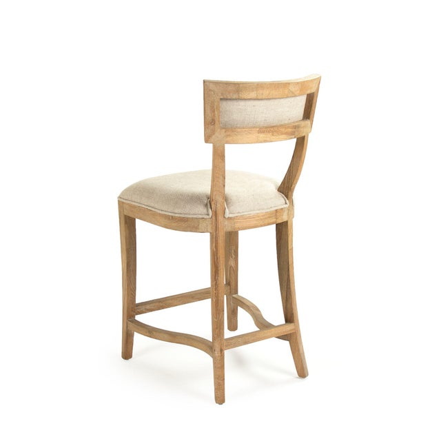 French Country Selborne Counter Stool in Cream For Sale - Image 3 of 6