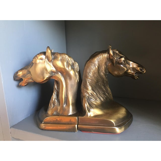 Brass Equestrian Bookends - A Pair - Image 4 of 5