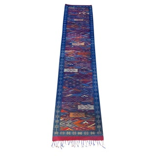 "Moroccan Wool Flatweave Runner-2'5"" X 11'10"" For Sale"