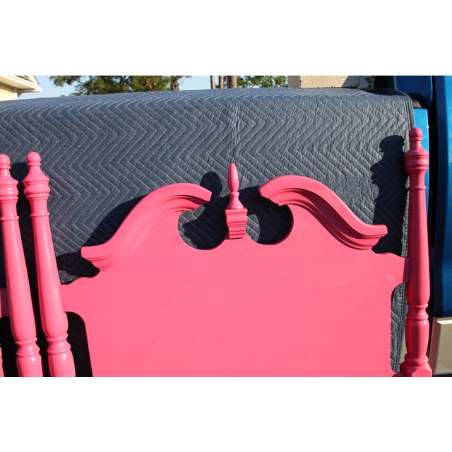 Art Deco Hollywood Regency / Neo Classic / Geogian Glam Gloss Pink Twin Headboards - a Pair For Sale - Image 3 of 12