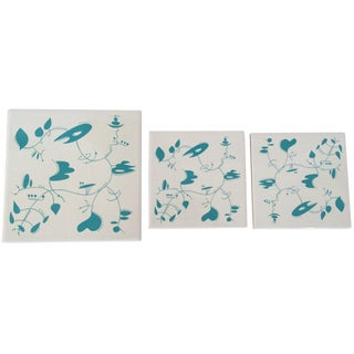 Ceramic Tiles Inspired by the Work of Alexander Calder For Sale