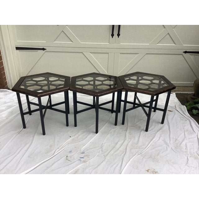 Widdicomb Honeycomb Tables, Set of 3 For Sale - Image 13 of 13