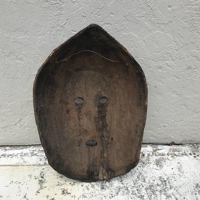 Huge carved mahogany Celtic mask, 20th century or older.