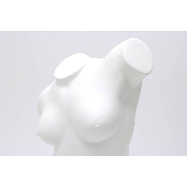 Figurative Large Scale Nude Female Torso Sculpture in Cast Plaster For Sale - Image 3 of 10