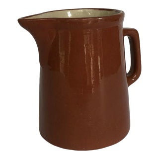 Vintage Weller Pottery Redware Pitcher/Milk Jug For Sale
