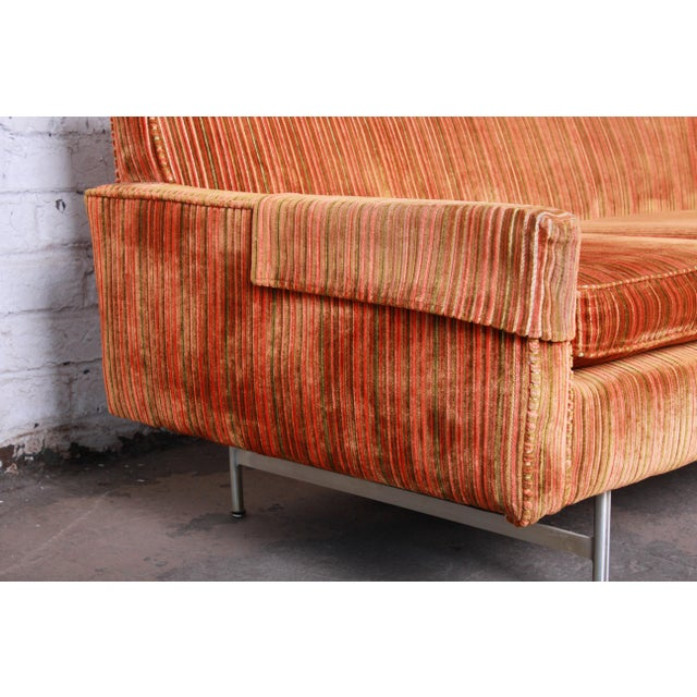 Brass Original Paul McCobb Linear Group Sofa on Brass Legs, 1960s For Sale - Image 7 of 9