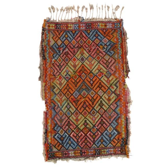 Pasargad N Y Antique Turkish Sumak Lamb's Wool Rug - 2' X 3' For Sale