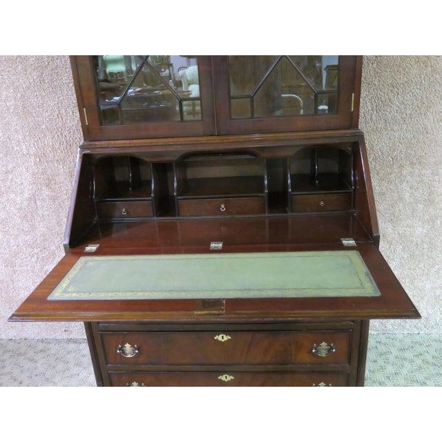 Red 1980s Regency Style Secretary Desk For Sale - Image 8 of 12
