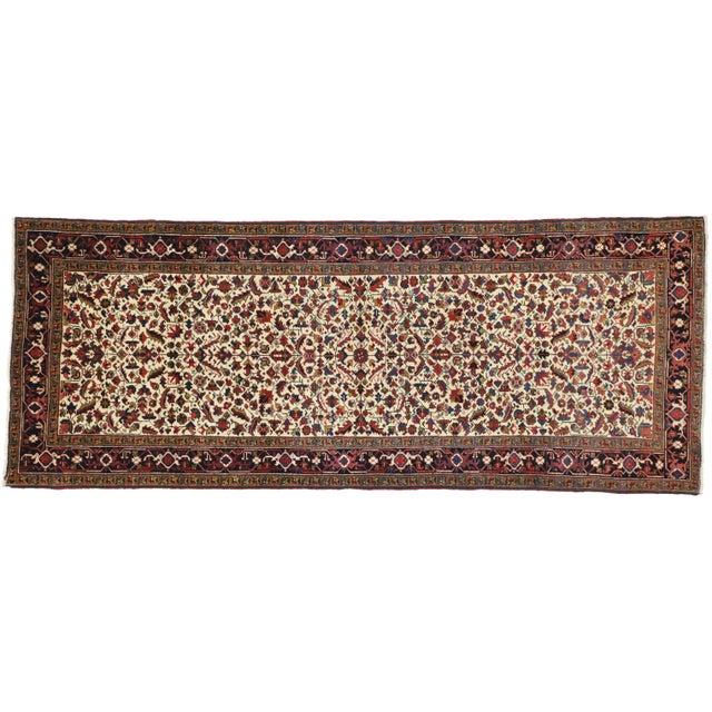Antique Persian Heriz Rug Runner - 04'09 X 12'02 For Sale - Image 10 of 10