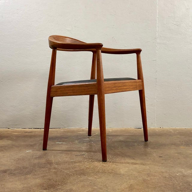 1960s 1960s Vintage Hans Wegner Style Danish Modern Dining Chairs- Set of 4 For Sale - Image 5 of 11