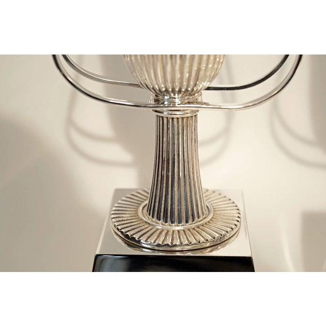 Pair of Tommi Parzinger Silver Plate Table Lamps for Lightolier - Image 4 of 5