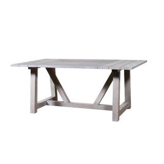 "Godal Teak Outdoor Dining Table 72"" For Sale"