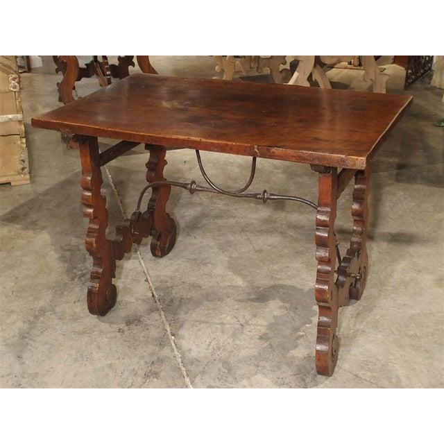 Brown Circa 1750 Italian Walnut Wood Writing Table For Sale - Image 8 of 13