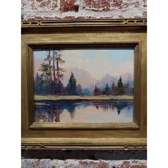 Impressionist Jules Bernard Dahlager -View of Short Bay in Ketchikan Alaska C.1940- Impressionist Oil Painting For Sale - Image 3 of 9