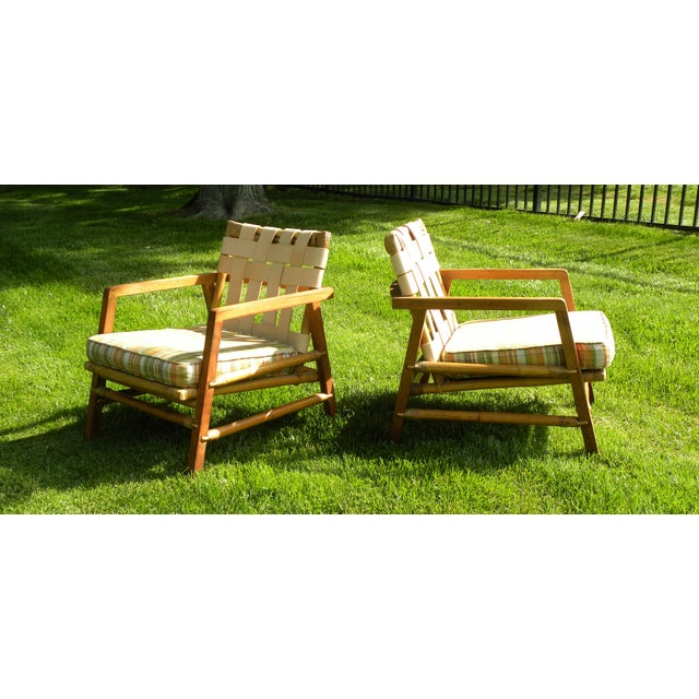 Green Ficks Reed Vintage Day Bed & Leather Back Chairs For Sale - Image 8 of 11