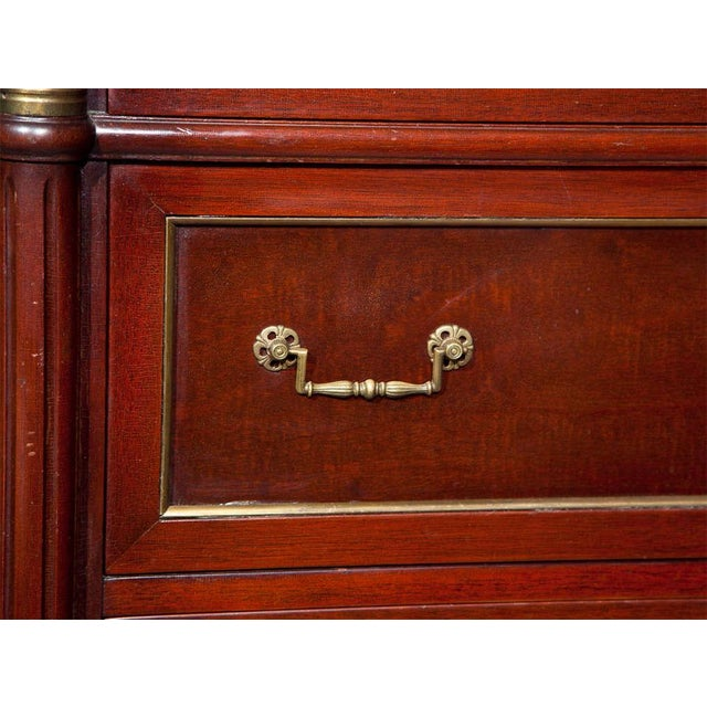 Jansen Directoire Style Mahogany Chest of Drawers For Sale - Image 4 of 9